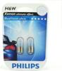 Żarówki H6W Philips BLUEVISION Ultra - blister 2szt